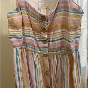 C&C California 100% linen dress